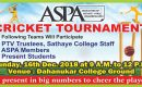 Sathaye Present Students win the ASPA Cricket Tournament'18